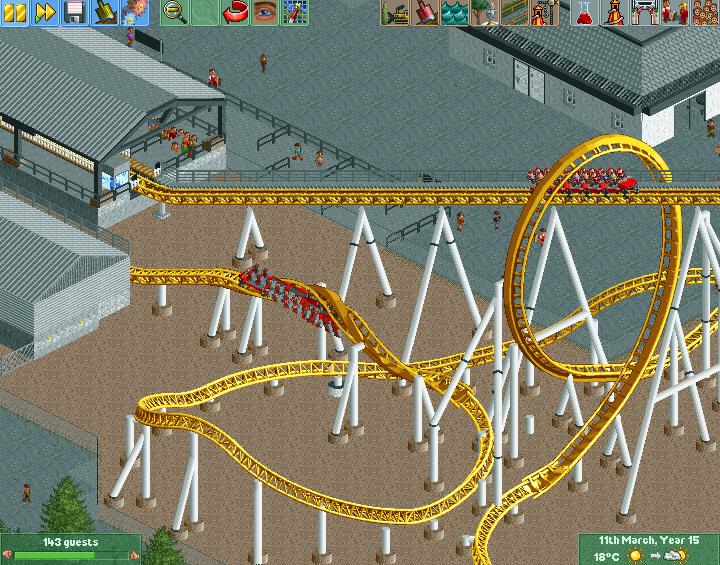 New Element - Screenshot - Finished Mack mega coaster trains